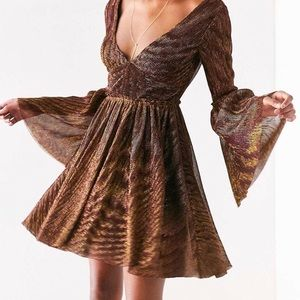 Urban outfitters bell sleeve dress